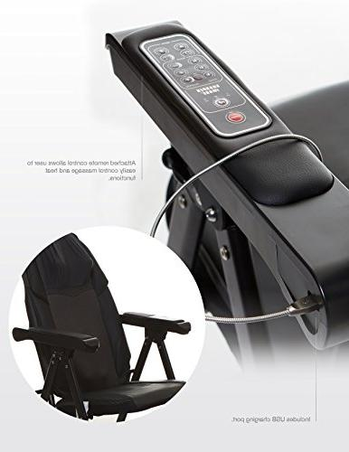 Sharper Image Foldable Massage Chair, Back Massager, Muscle Kneading, to Save Space