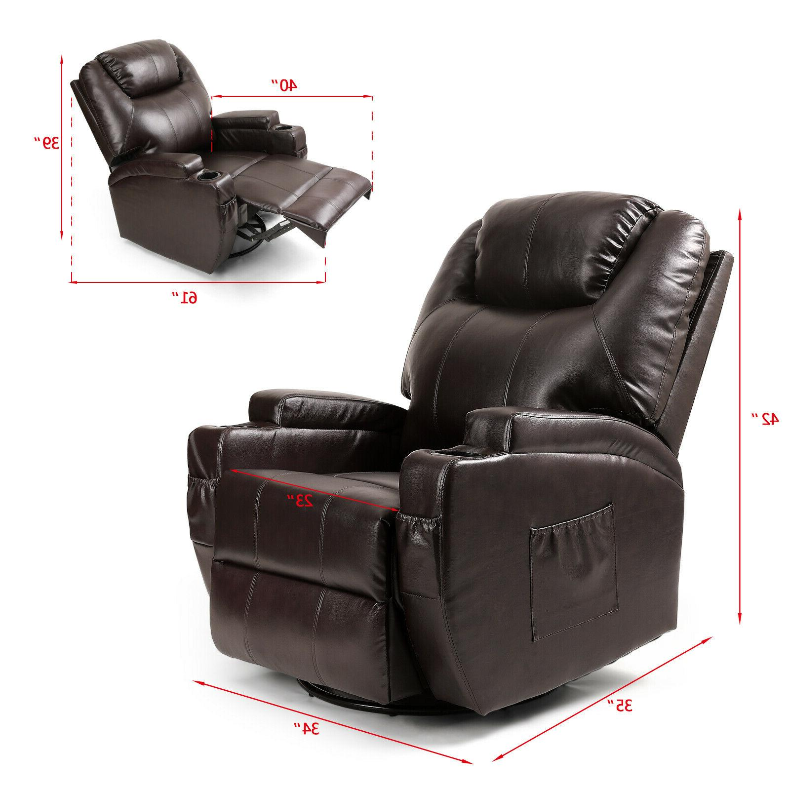 Full Massage Chair Zero Gravity Leather Heating