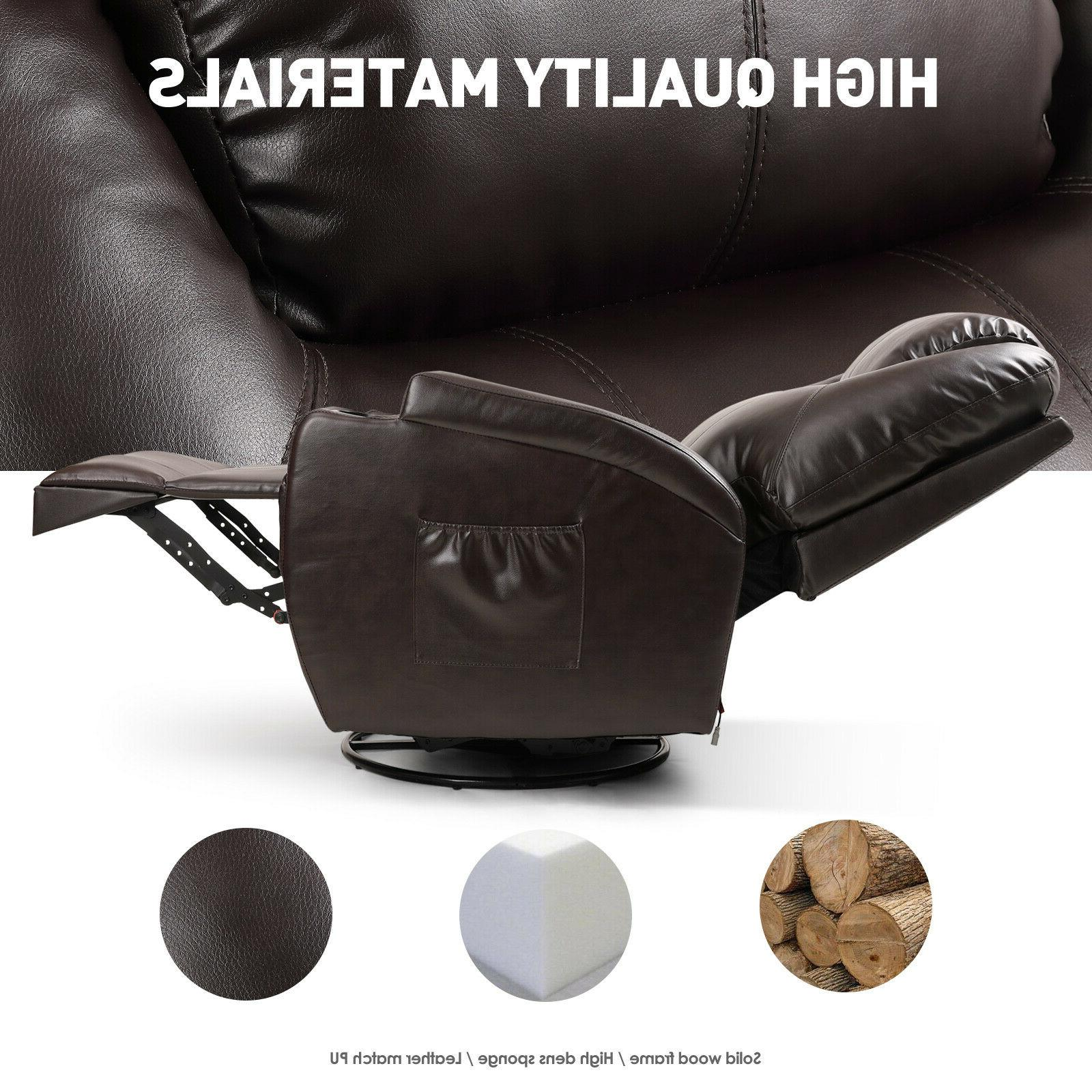Full Body Electric Massage Chair Leather Lazy Sofa