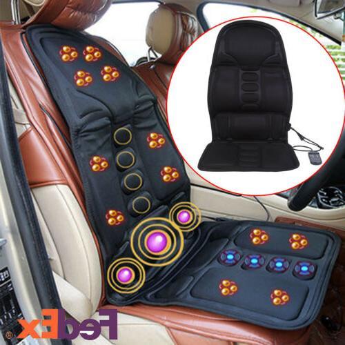 Heated Back Massage Cushion Seat Car Vibration Chair Body Lu