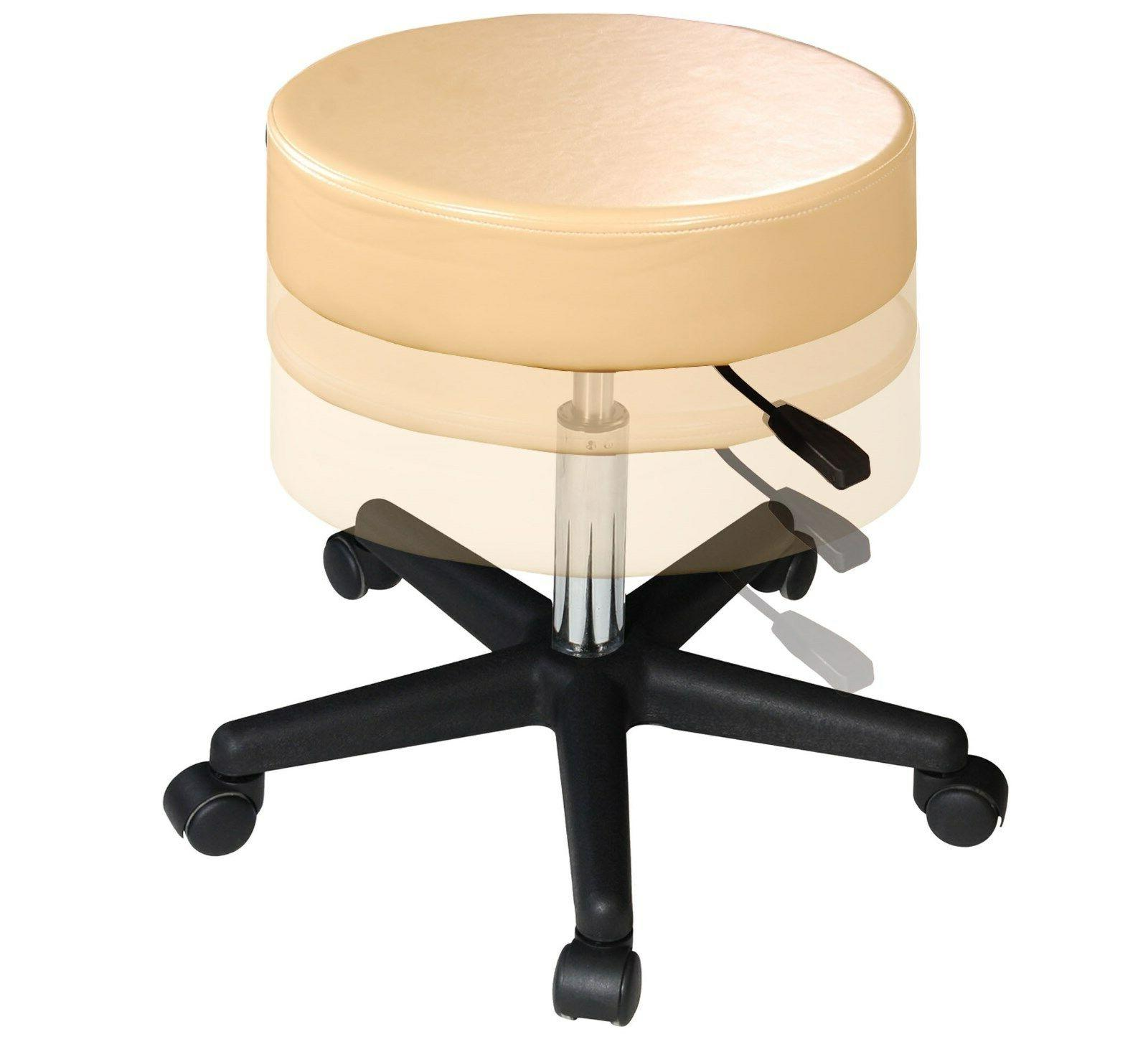 Master Massage Hydraulic Adjustable Swivel Rolling Stool Cre