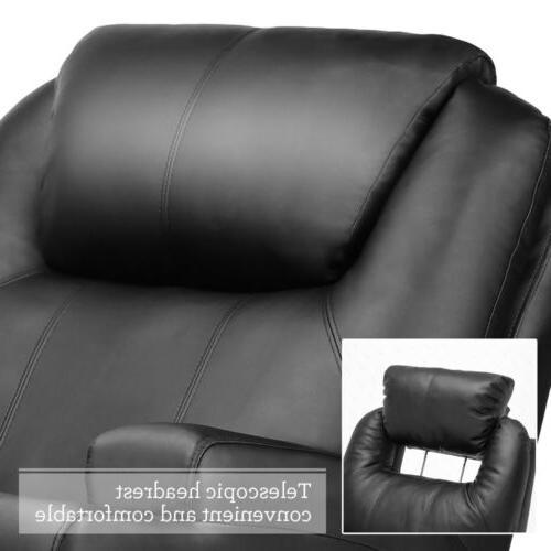 Massage Sofa Leather Vibrating Heated Executive w/ Control
