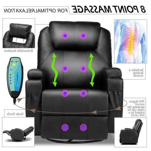 Massage Recliner Vibrating Lounge Executive Control