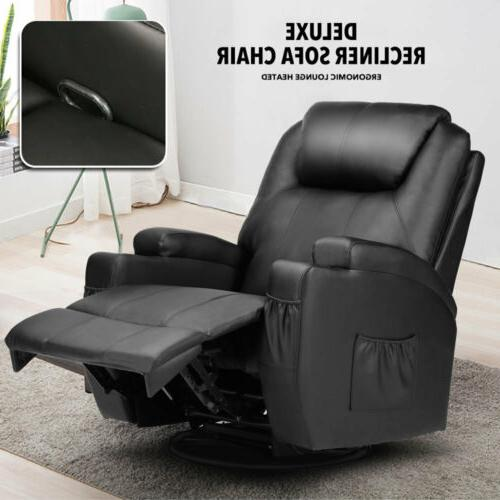 Massage Recliner Sofa Vibrating Heated Executive