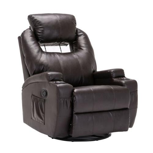 Massage Leather Vibrating Chair w/Adjustable