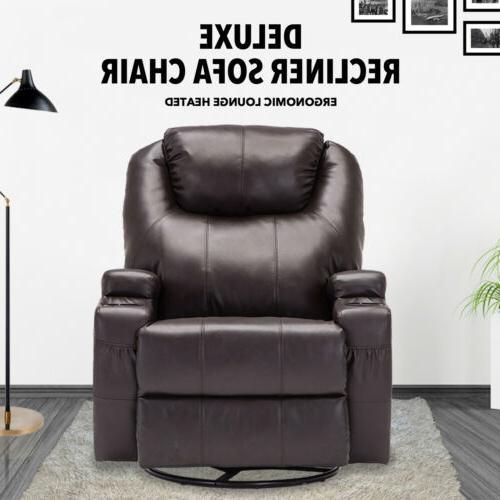Massage Sofa Vibrating Heated w/Adjustable Headrest