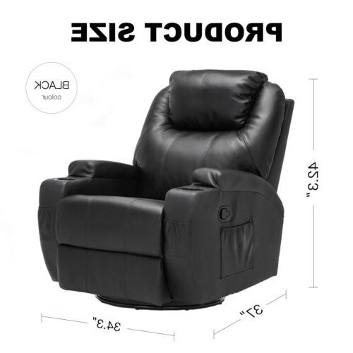 Electric Chair Recliner Sofa Vibrating Heated Ergonomic w/Remote