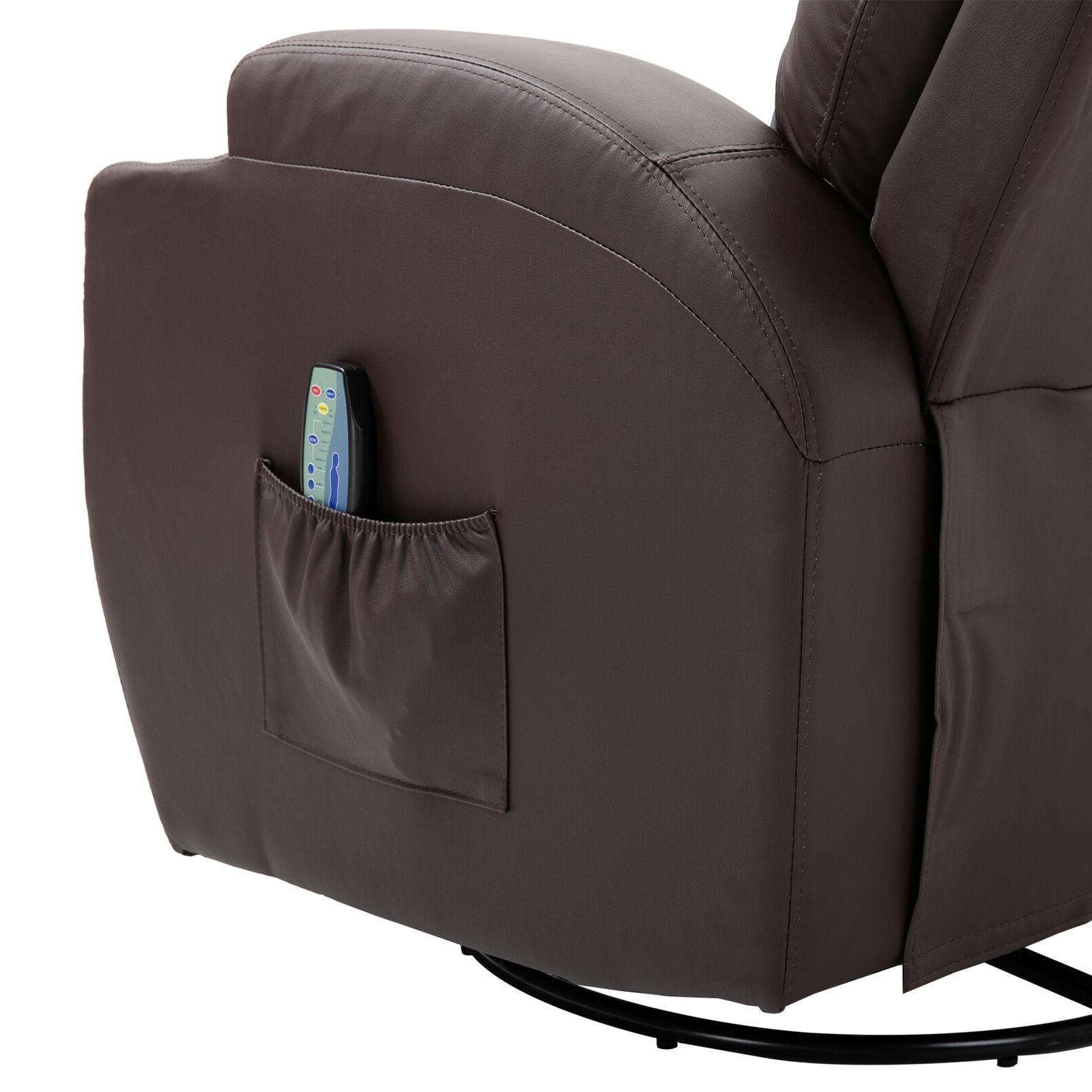 Massage Recliner Vibrating Heated Chair with Control