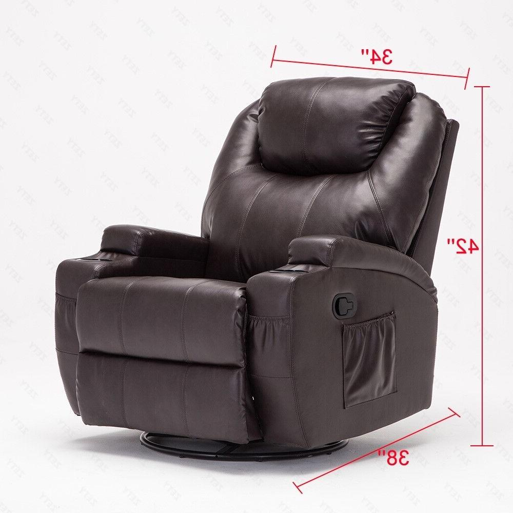 Massage Vibrating Heated Chair Lounge with Remote Control