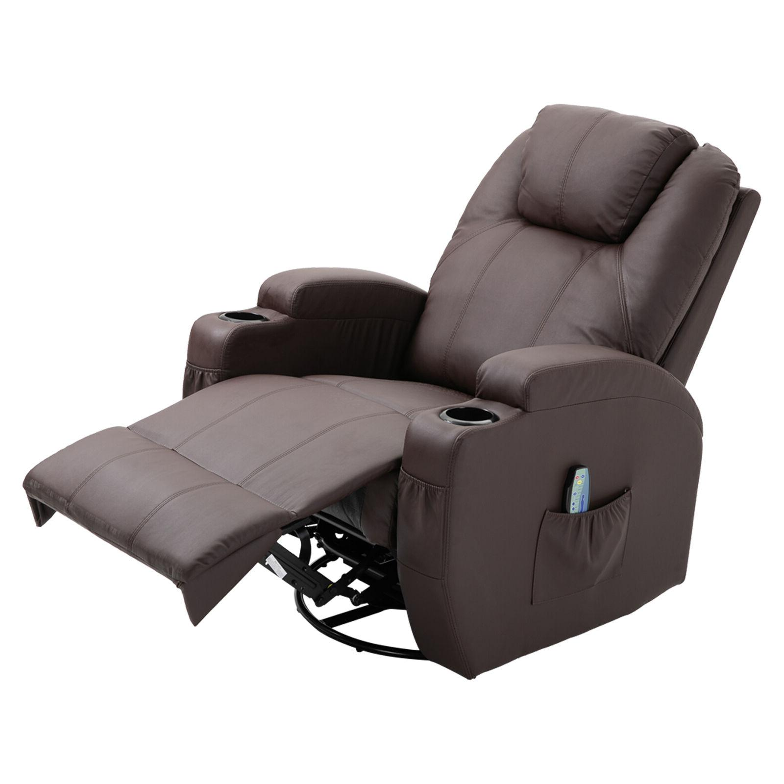 Massage Vibrating Heated Chair Lounge with