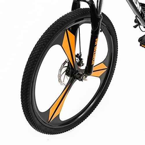 Uenjoy Murtisol Men's and Women's Speed Fast 21 Hybrid Bicycle Mag Bike, Orange