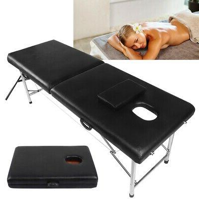 New BestMassage Black Professional Portable Massage Table Fa