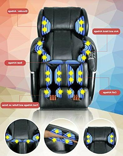 New Shiatsu Massage Chair Zero Gravity w/Heat 77