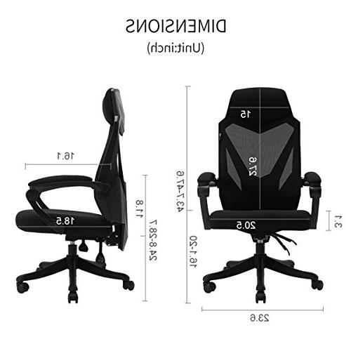 Hbada Office Chair - Ergonomic Swivel Task Gaming Chair -