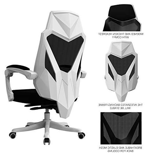 Hbada Chair - Ergonomic Swivel Gaming - White