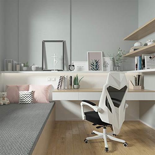 Hbada Chair Ergonomic High-Back Swivel Task - White