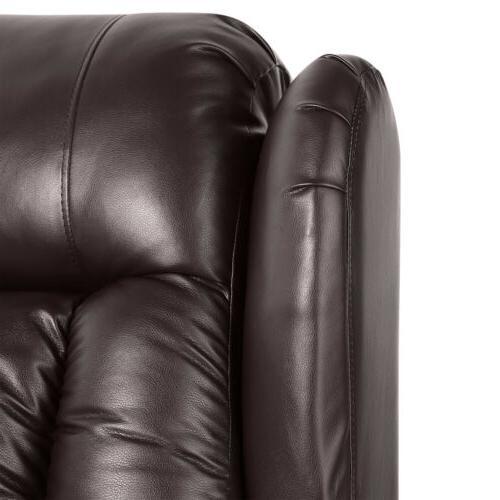 Oversize Massage Chair Heated 360°Swivel Brown