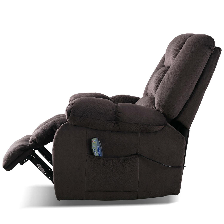 "Fabric Massage Chair Sofa w/Heated Manual 23""W Padded"