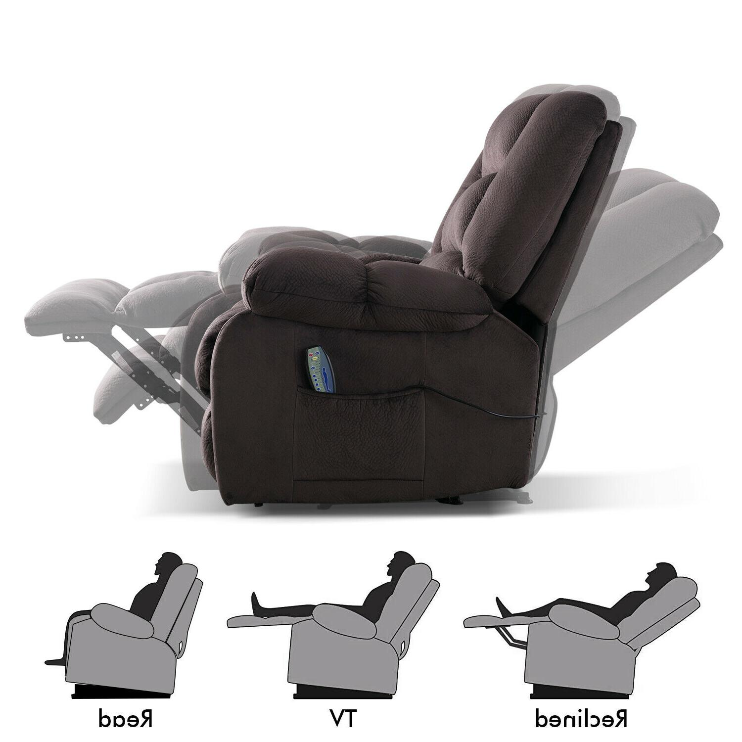 """Fabric Chair w/Heated Recliner 23""""W Padded"""
