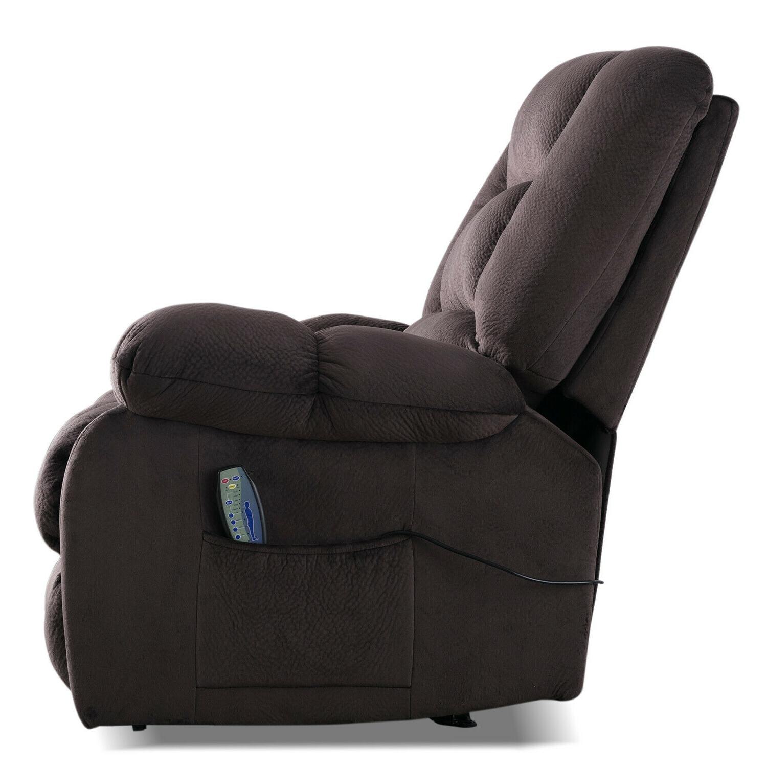 """Fabric Chair w/Heated Vibration Recliner 23""""W"""