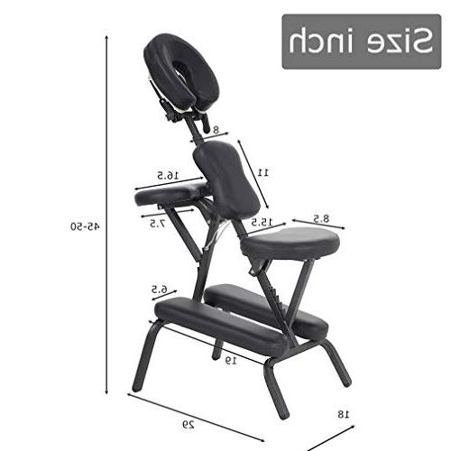 """Portable Massage Chair 4"""" Thick Weight With Free BLACK"""