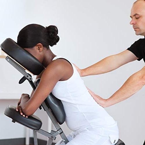 "Portable Massage Chair 4"" Foam Weight Best Massage With Bag BLACK"