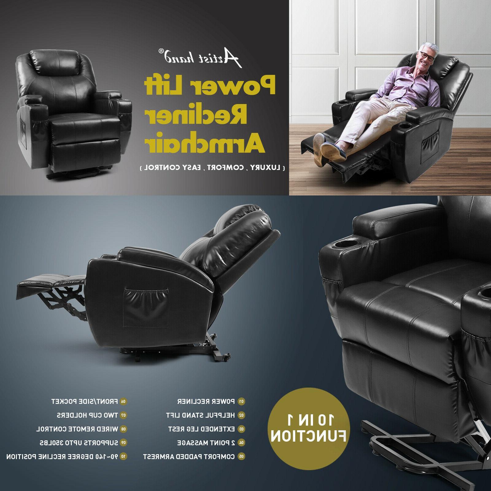 Multifunction Power Lift Chair 8 Chair Zero Gravity
