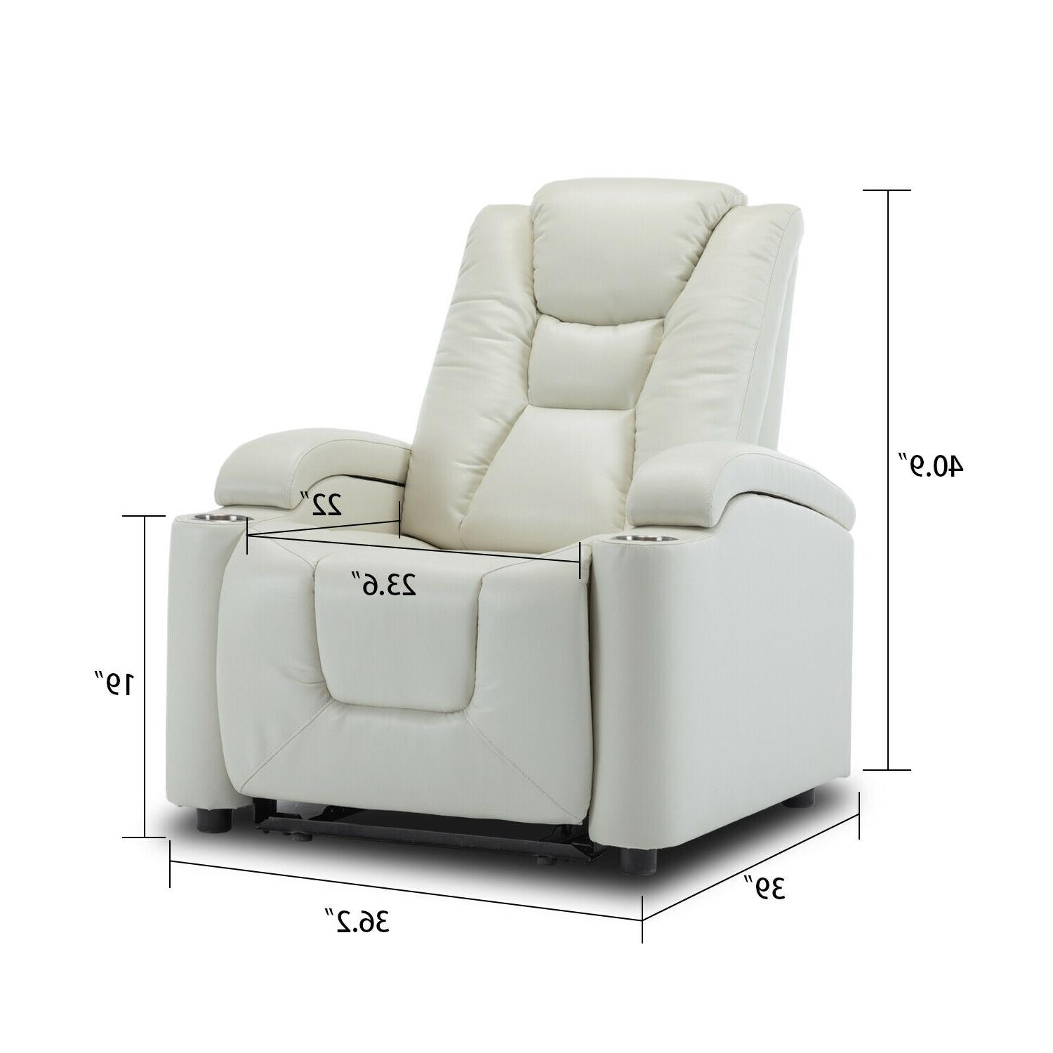 Power Recliner Port Cup Holder Theater Sofa