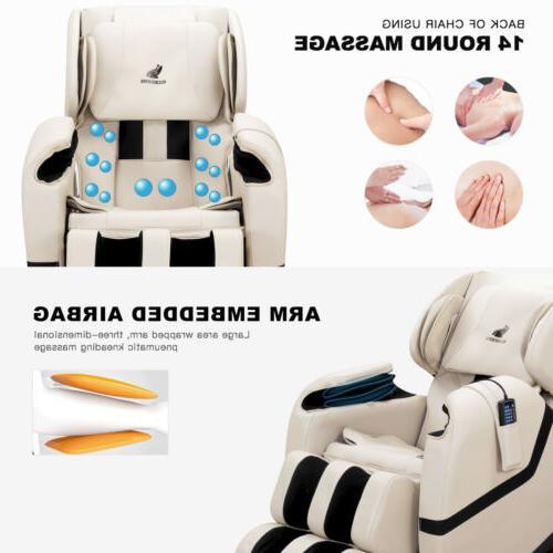 Deluxe Full Body Shiatsu Massage Chair Zero Gravity Foot