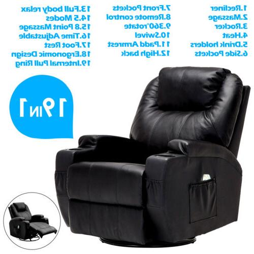 recliner massage sofa chair ergonomic lounge swivel