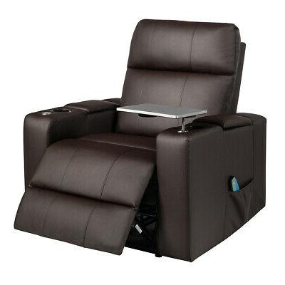 relax massage recliner chair with swivel tray