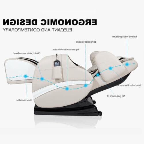 Deluxe Body Shiatsu Electric Chair Recliner ZERO Gravity with
