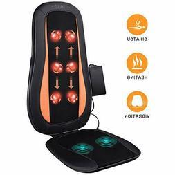 Massage Chair Pad Shiatsu Back Massager With Heat - Electric