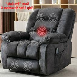 Massage Recliner Chair With Heat & Vibration For Living Room