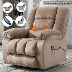 massage recliner chair with heat vibration rc
