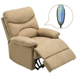 Brown Ergonomic Massage Recliner Chair Lounge Sofa with Cont