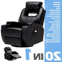 Electric Recliner Sofa Massage Chair Ergonomic Lounge Swivel