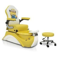 MINION Yellow Kid Pedicure Chair Nail Salon Massage Chair Ch