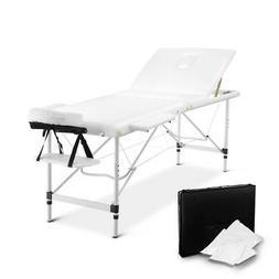 NEW Portable Aluminium 3 Fold Massage Table Chair Beauty Tre