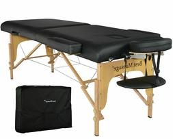 """New BestMassage  Table Facial Bed Spa Chair Black 77""""L 3"""" Pa"""