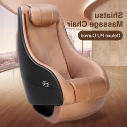 OTO Deluxe Shiatsu Full Body Massage Chair PU Curved Recline