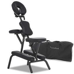 "Portable Massage Chair Comfort 4"" Thick Foam Light Weight Be"