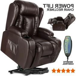 Multifunction Power Lift Chair 8 Point Massage Chair Zero Gr
