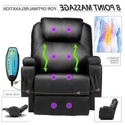 Massage Chair Power Lift Recliner Sofa Soft Padded Seat Armr