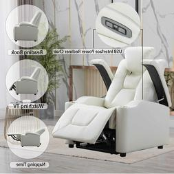 power recliner chair w usb port cup