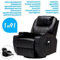 Recliner Massage Sofa Chair Ergonomic Lounge Swivel Heated w