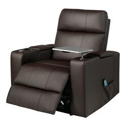 Relax Massage Recliner Chair With Swivel Tray Remote Control