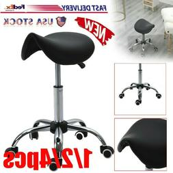 Saddle Stool Rolling Chair For Home Office Massage Salon Kit