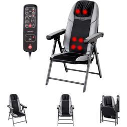 Shiatsu Massage Chair Adjustable Intensity Folds Heat USB Po