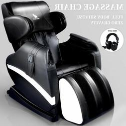 Full Body Shiatsu Massage Chair Recliner Zero Gravity w/Heat